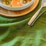 nappe en lin lavé vert