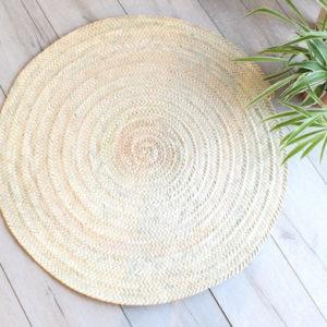 décoration tapis tressé